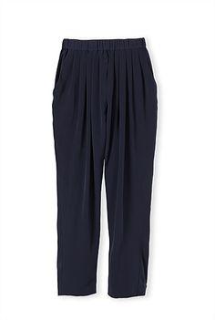 Pleat Front Drape Pant
