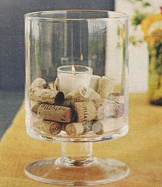 candles with corks