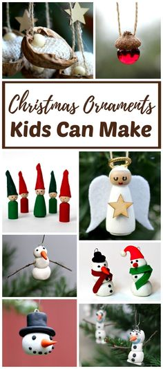 DIY Christmas ornaments kids can make you will LOVE on the tree. Handmade crafts like these kid-made ornaments make holiday decorating fun and easy! #Christmas #ornament
