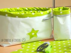 DIY corbeille à couches, panier fourre-tout, panier en tissu, couture facile Coin Couture, New Years Eve Party, Diaper Bag, Kids Room, Lunch Box, Projects To Try, Diy Crafts, Sewing, Fabric