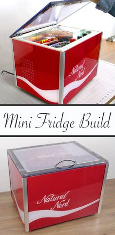 I wanted to make a mini fridge to use while working in the workshop or in the office, but it could also fit nicely for a camper van!