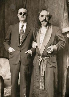 James Joyce with Augustus John, London, 1925-1930 [at the time of John portrait] -nd from beinecke