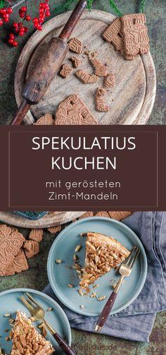 Weihnachtlicher Spekulatiuskuchen mit gerösteten Zimt-Mandeln › foodistas.de