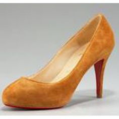Christian Louboutin Round-Toe Suede Pump