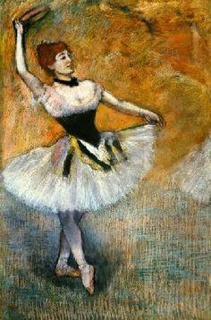 Dancer with Tambourine - Edgar Degas Paintings Edgar Degas, Pierre Auguste Renoir, Edouard Manet, Degas Drawings, Degas Paintings, Ballerine Degas, Degas Ballerina, Ballerina Poses, French Impressionist Painters