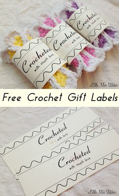 Sometimes I Just Want A Simple But Sweet Way To Dress Up My Homemade Gifts Which Is Why Created These Crochet Gift Labels Made 2 Diff
