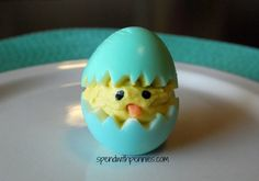 Baby Chick Deviled Eggs Baby Chick Deviled Eggs Love it? Pin it to your EASTER BOARD to SAVE it! Follow Spend With Pennies on Pinterest for more great recipes! These little cuties are perfect for setting out at any Easter or spring event, instead of the usual deviled egg hors d'oeuvres! I usually make these out of the kids dyed eggs and serve them along with Easter lunch or dinner! If there are any left over, you can mash them  {Read More}