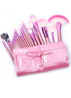 22pcs Cepillos profesionales del maquillaje con el bolso rosado EUR15.87
