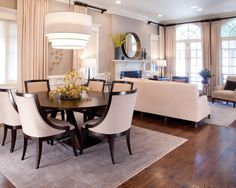 Creative methods to decorate a living room-dining room combo ...