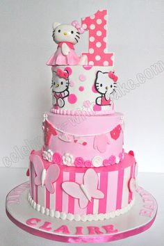 Hello Kitty Cake~ super sweet and pink!