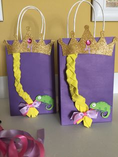 DIY Goody Bags for Rapunzel theme party