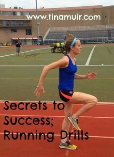 If you want to run better workouts and run some PRs, you NEED to add these to your training. Check out this secret to success post from elite athlete Tina Muir on running drills. Running Drills, Running Workouts, Running Tips, Fun Workouts, Workout Tips, Running Motivation, Fitness Motivation, Strength Training For Runners, Race Training