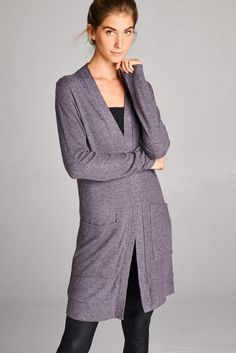 Long Story Cardigan in Charcoal