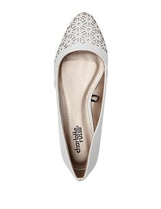 Laser-Cut Pointed Toe Ballet Flats: Charlotte Russe #flats