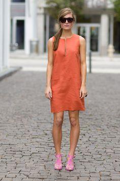 Orange mod dress - Emerson