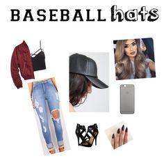 """Baseball hat❤️"" by hag1999 ❤ liked on Polyvore featuring Charlotte Russe, Topshop, Michael Antonio, Native Union, baseballcap and baseballhats"