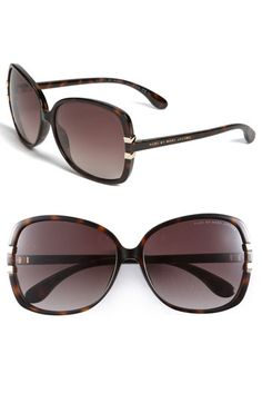 """Marc by Marc Jacobs Oversized Ombre Sunglasses in """"Havana"""" color"""