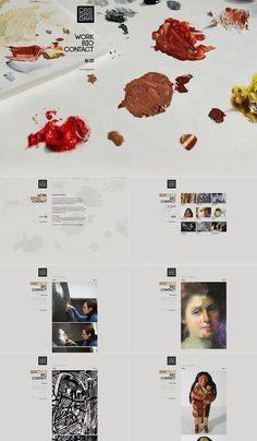 Painter and art restoration artist website.  http://www.behance.net/gallery/Web-Design/472462