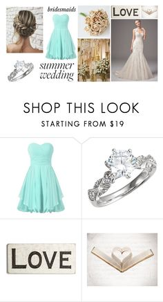 """Say I Do: Summer Weddings"" by pink-wednesdays ❤ liked on Polyvore featuring Maggie Sottero and Primitives By Kathy"