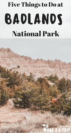 Bad Puns Alert: 5 Bad Things To Do in the Badlands.  Are you planning a trip to South Dakota and Badlands National Park? Here are a few fun things to do during your great midwest road trip!