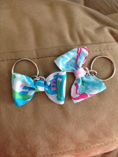 Lilly Pulitzer Keychains by Katesletsgobows on Etsy, $3.00