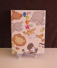 Born to be Wild ZOO ANIMAL Baby Nursery Decor by crazydaisy12, $11.00