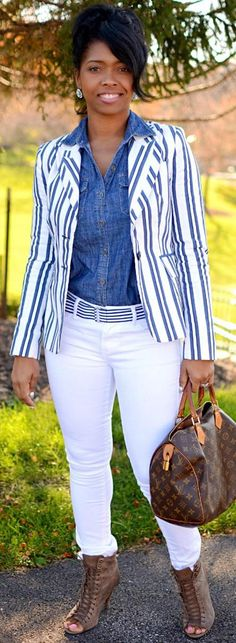 Denim Stripes http://sweeneestyle.com/