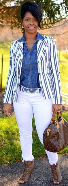 Denim Stripes http://sweeneestyle.com/