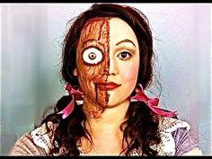 wooden puppet makeup tutorial - YouTube