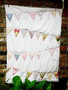 Pennant Bunting Banner Girl's Quilt.
