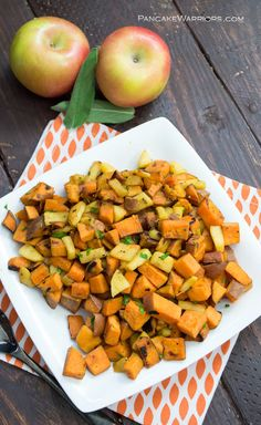 This quick apple sweet potato hash is the perfect side dish. Great for ...