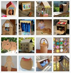 Cardboard box crafting...recycling at its finest