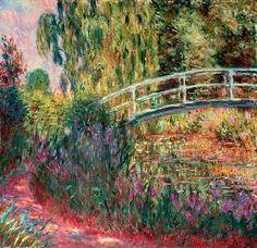 Claude Monet - Japanische Brücke im Garten von Giverny