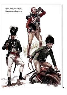 Loyalist Troops From An Osprey Men At Arms Title