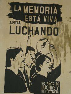 La memoria está viva. Santiago de Chile, Romería al Cementerio General, 8 de sept. de 2013. A 40 años del golpe.