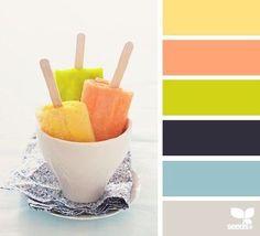 summer hues - color palette from Design Seeds Colour Schemes, Color Combos, Color Patterns, Colour Palettes, Design Seeds, Colours That Go Together, Color Palate, Colour Board, World Of Color