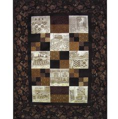 Quilted Memories Quilt Pattern - 8 Hand Embroidery Blocks, Label & Quilt Finishing Pattern - by Beth Ritter - Instant Digital Download