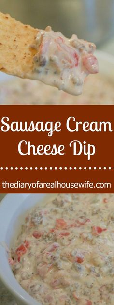 It's one of my all time favorite dip recipes! This Sausage Cream Cheese Dip is so good and easy to make. Just three ingredients then it's time to wow your guests! Yummy Appetizers, Appetizer Recipes, Snack Recipes, Cooking Recipes, Cheese Dip Recipes, Cream Cheese Appetizers, Mexican Dip Recipes, Tailgating Recipes, Sausage Cream Cheese Dip