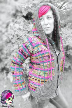 Pretty in Plaid - Jacket crochet pattern by Glamour4You