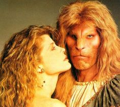 Linda Hamilton and Ron Perlman in the old TV show, Beauty and the Beast . . . which is coming back!