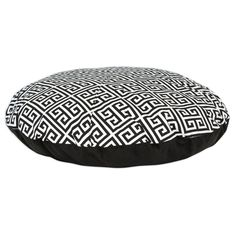 Towers / White Geo Print Round 36-inch Pet Bed