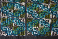 Thai Hmong handmade patch - cross stitch textile patch for quilting and needlework - hilltribe handmade fairtrade textiles: Hardanger Embroidery, Embroidery Stitches, Needlepoint Stitches, Needlework, Cross Stitch Designs, Cross Stitch Patterns, Textile Patterns, Quilt Patterns, Asian Quilts