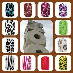 Animal print nails! Jamberry has them buy3get1