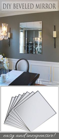 This mirror looks so much more expensive then it is!  Simple to make!  Step by step tutorial at Provident Home Design.  Pottery Barn Knockoff.