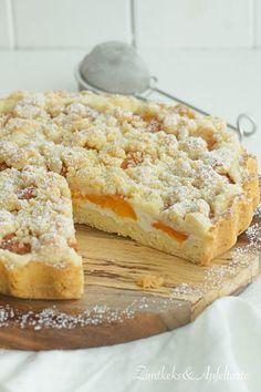 Sommerlich leichte Aprikosentarte mit Skyr und Streuseln - Zimtkeks und Apfeltarte