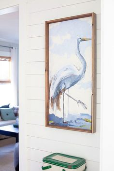 Heron Painting by Ruthie Carlson   The Lettered Cottage