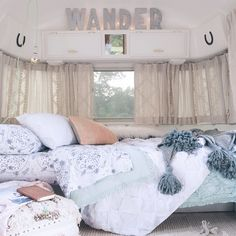 """I am beyond thrilled to announce a little secret project I've been working on... The renovation and collaboration with ANTHROPOLOGIE of my Airstream…"""
