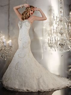This beaded wedding gown by Christina Wu is perfect for the glam bride!