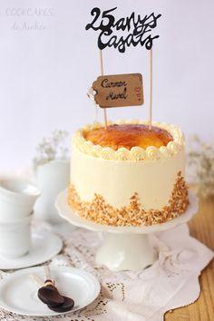 Layer Cake de Vainilla, Trufa, Crema de mantequilla Sara y Yema Tostada