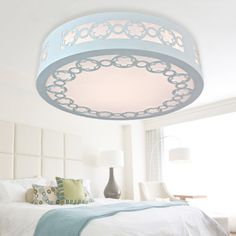 Fashion Cute LED Wooden Flowers Kid's Room Ceiling Lamp Creative Bedroom Ceiling Lamp Study Room Ceiling Lamp